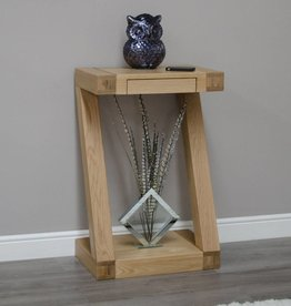 Z Designer Solid Oak Small Console Table