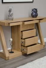 HomestyleGB Z Designer Solid Oak Large Console Table