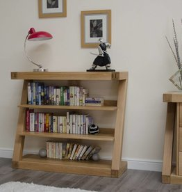 HomestyleGB Z Designer Solid Oak Small Bookcase