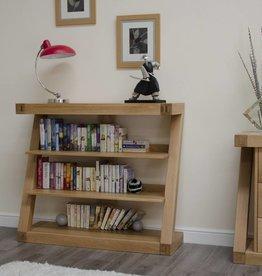 Z Designer Solid Oak Small Bookcase