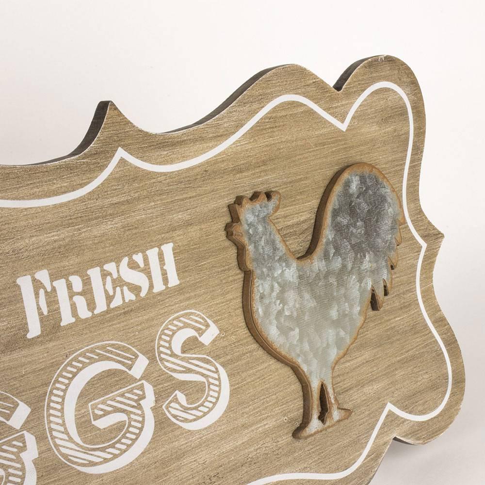Farm Fresh Eggs Wooden Plaque