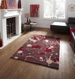 Hong Kong 459 Brown & Red Rug - 230 cm