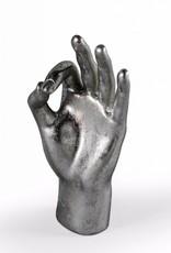 "Silver""OK"" Hand Figure"