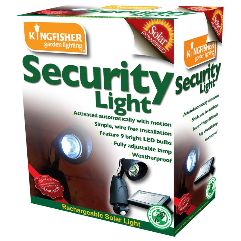Kingfisher Solar Powered 9 LED Security Light with PIR