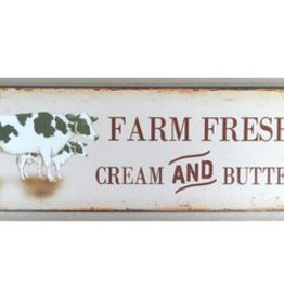 Farm Fresh Tin Plaque