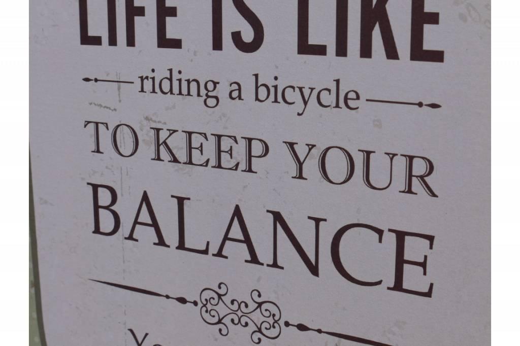 Sign - Keep Your Balance