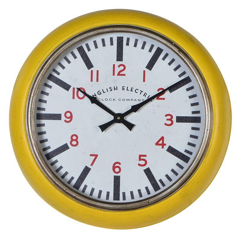 'English Electric' Yellow Wall Clock