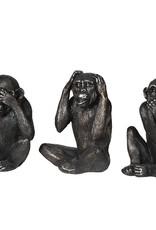 "Set of 3 ""'No Evil"" Monkeys"