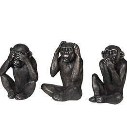 "Set of 3 ""'No Evil"" Monkeys"