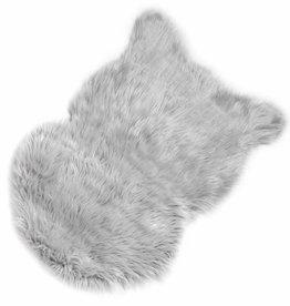 Light Grey Faux Sheepskin Rug