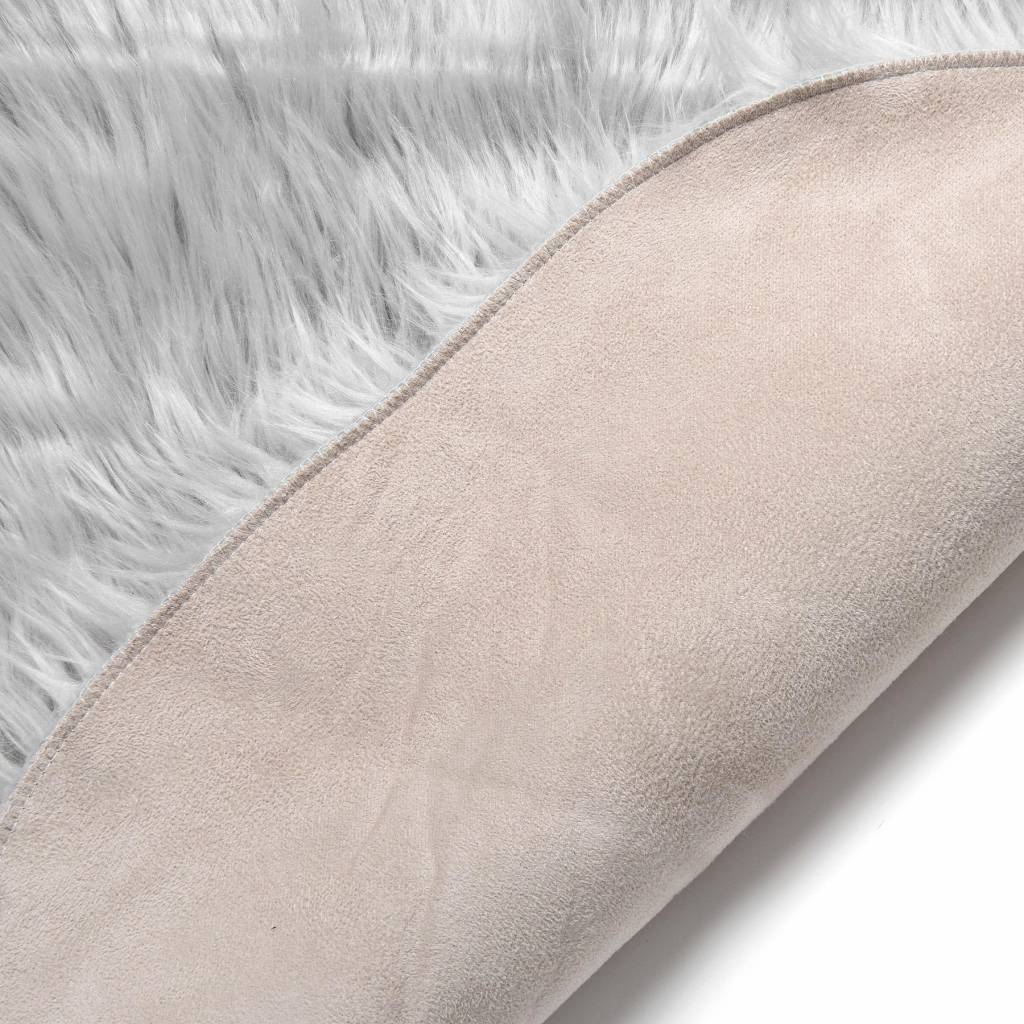Hill Interiors Light Grey Faux Sheepskin Rug