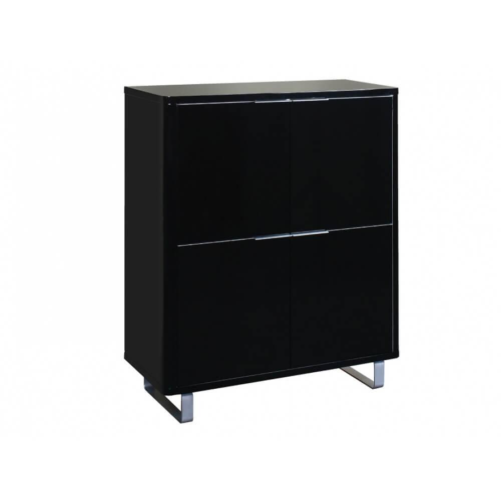 LPD Accent 4 Door Storage Unit – Black