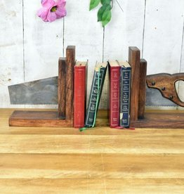 Retro Industrial Saw Book Ends