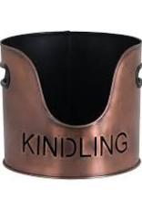 Log's & Kindling Buckets + Matchstick Holder In Copper