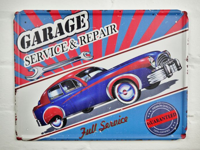 Garage Service Metal Sign