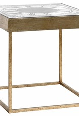 Hill Interiors Mirrored Clock Table With Moving Mechanism