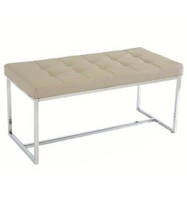 New York Dining Bench - Mink Grey