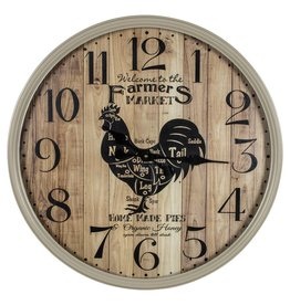 Farmer's Market Wall Clock