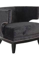 Black Studded Modern Armchair