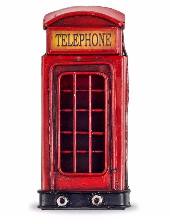 Antiqued Phone Box Fridge Magnet