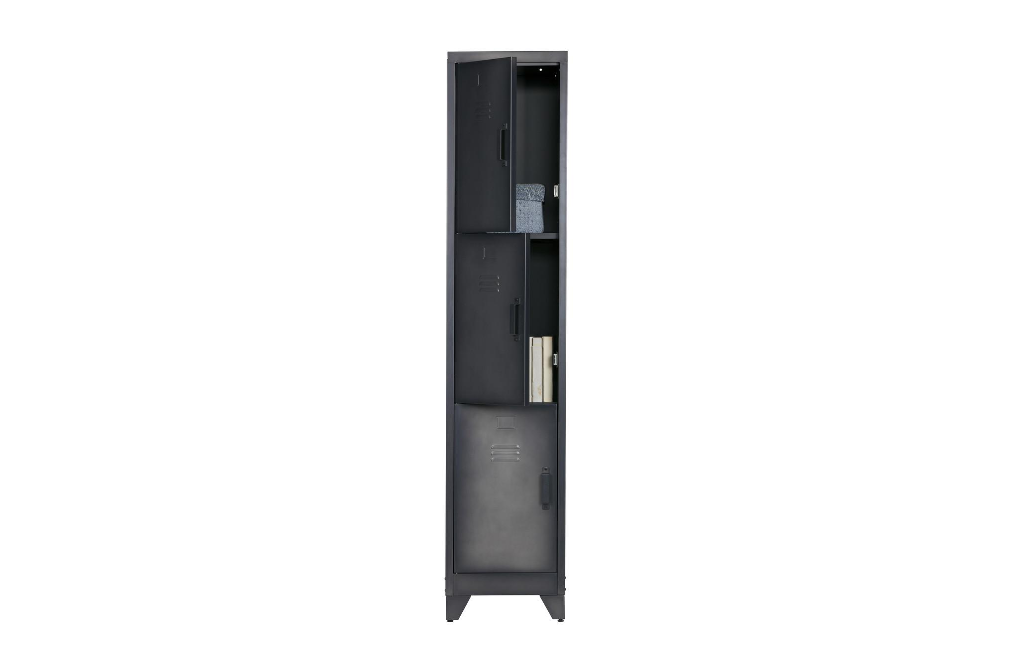 Wood Cas 3 Door Locker Cabinet