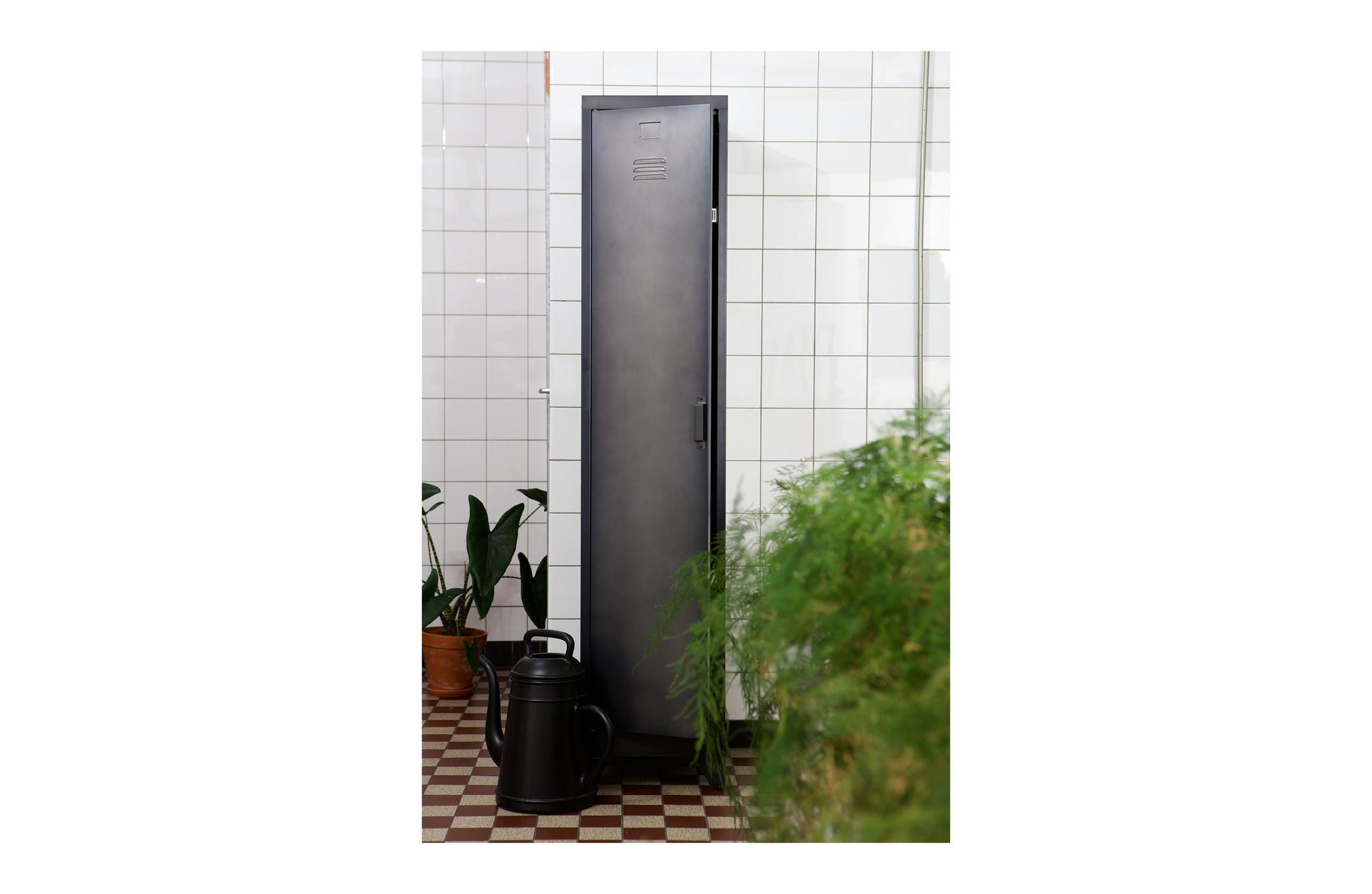 Wood Industrial 1 Door Locker Cabinet