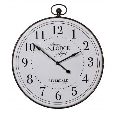 Besp-Oak Oversized Luxury Lodge Hotel Round Clock