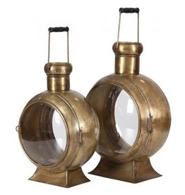 Besp-Oak Set of 2 Lanterns