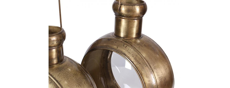 Besp-Oak Set of 2 Lanterns