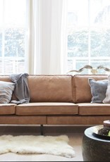 BePureHome Rodeo Cognac 3 Seater Sofa
