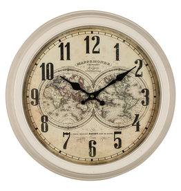 Mappe Monde Wall Clock