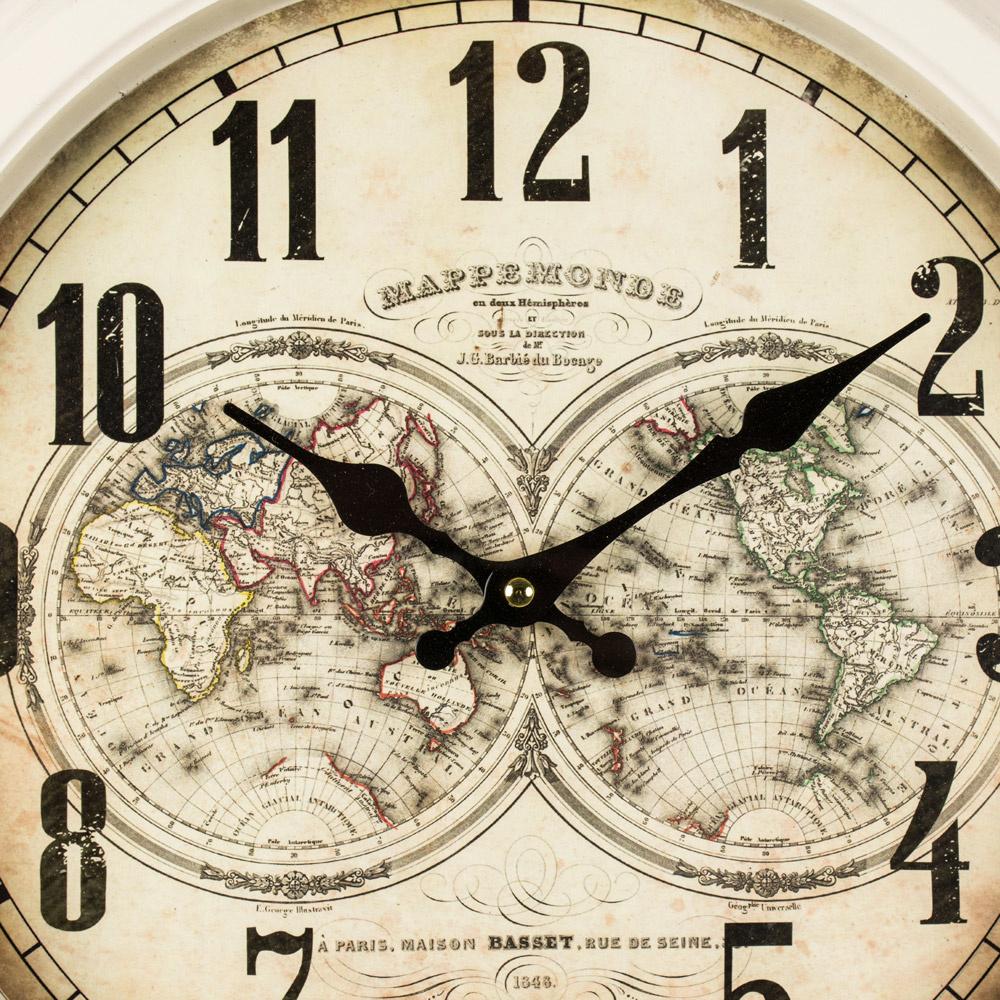 Mappe Monde Wall Clock