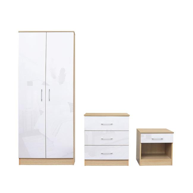 LPD Dakota Bedroom Set - White