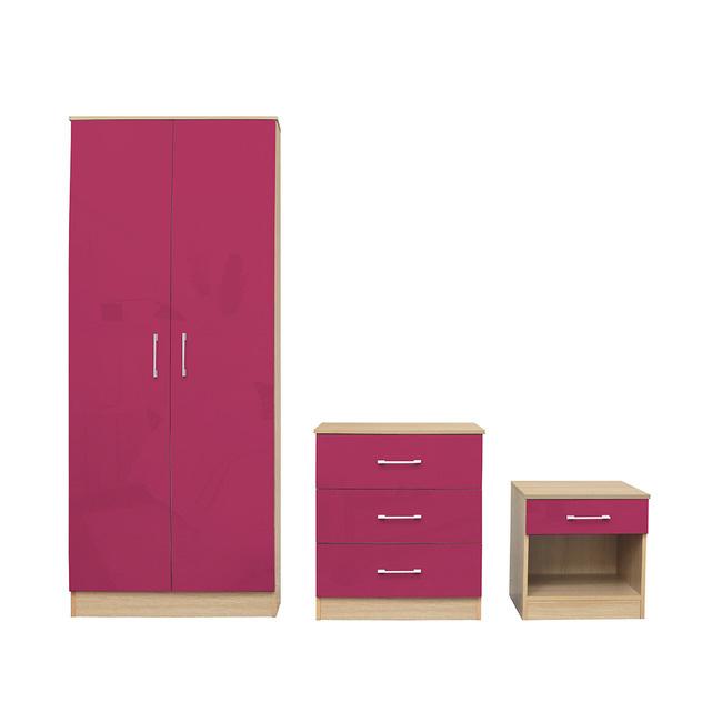 LPD Dakota Bedroom Set - Pink