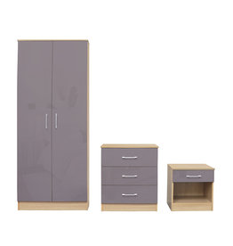 LPD Dakota Bedroom Set - Taupe Grey
