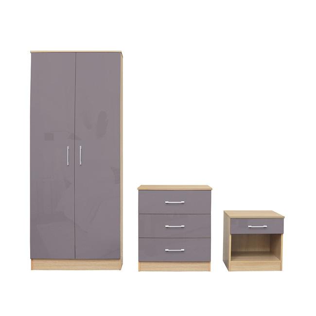 LPD Dakota Bedroom Set - Taupe Grey