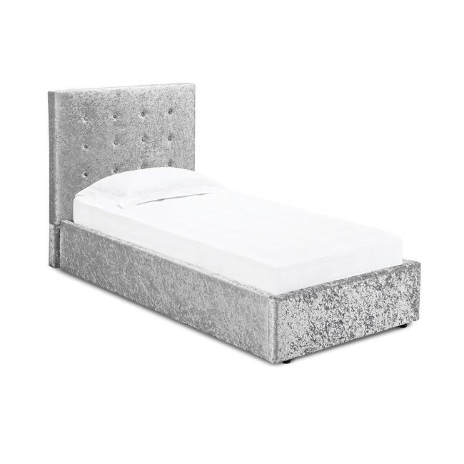 LPD Rimini Ottoman Bed - Silver