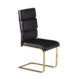 Black and Gold Dining Chair - Pair