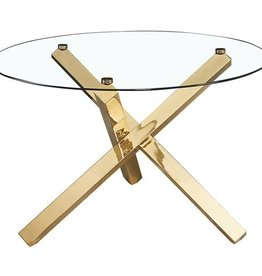 LPD Round Dining Table With Gold Legs