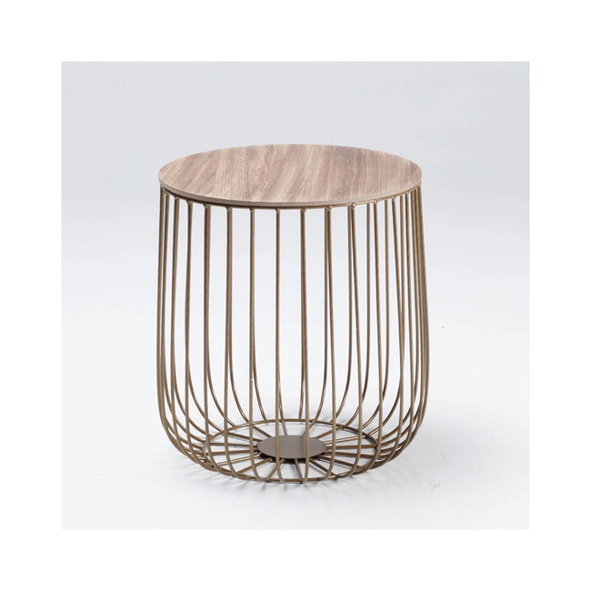 LPD Enzo Small Cage Side Table - Gold
