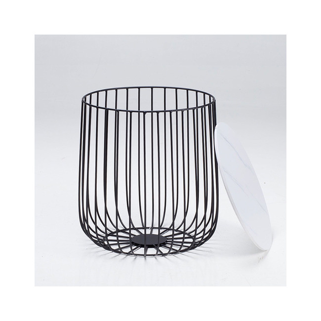 LPD Enzo Small Cage Side Table - Black