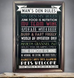 Red Hot Lemon Man's Den Wall Sign