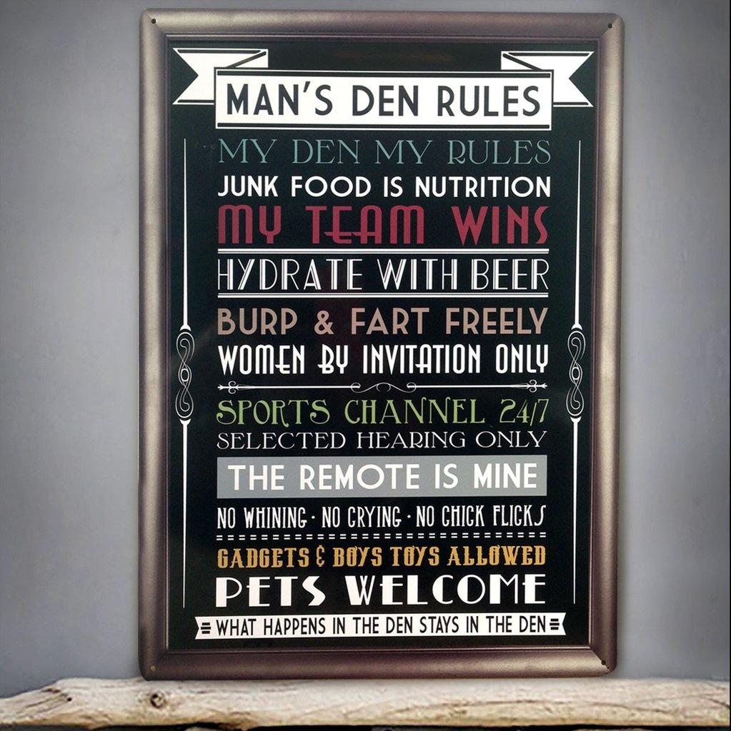 Red Hot Lemon Man's Den Wall Sign