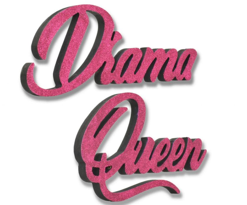 Giant 3D Pink Glitter Words Drama Queen