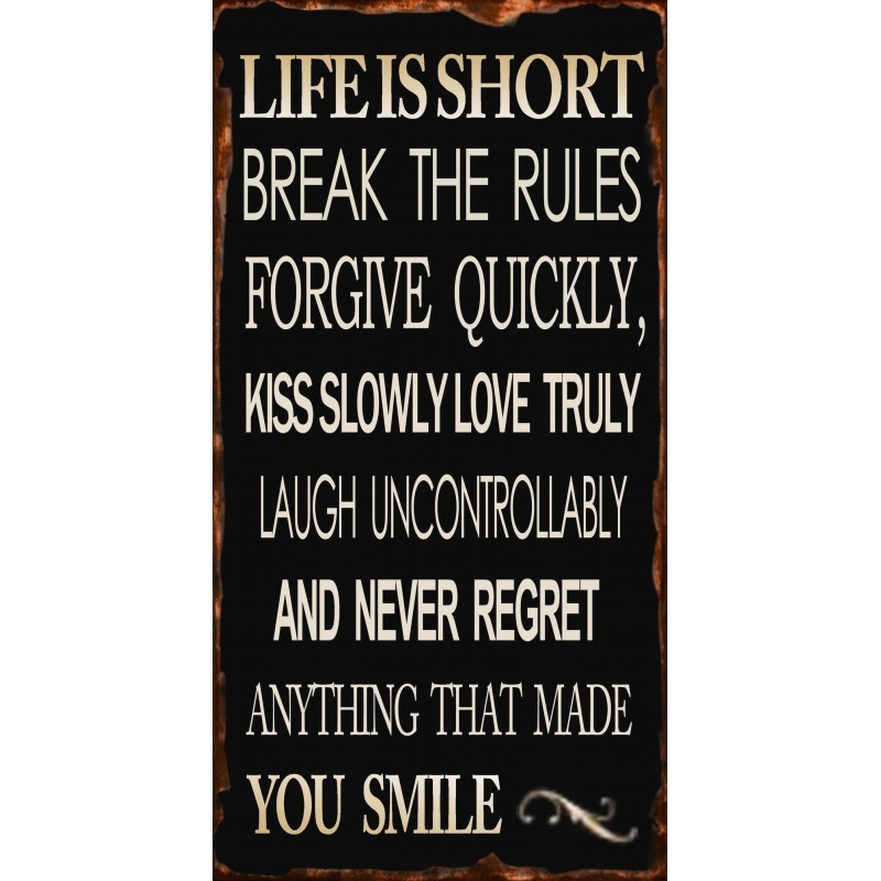 Life Message Plaque