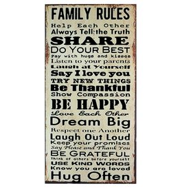 Family Rules Message Plaque