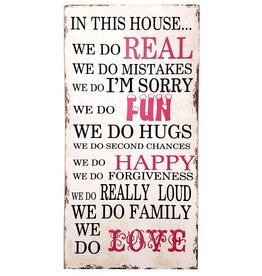 In This House Message Plaque