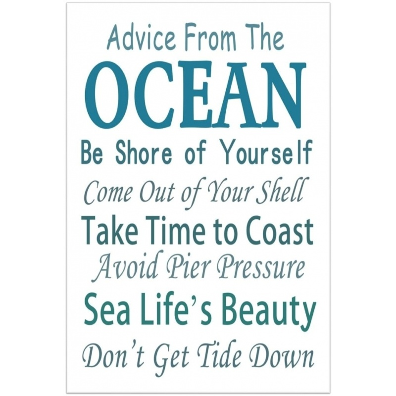 Advice From The Ocean Message Plaque
