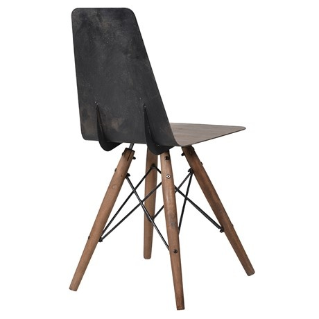 Swivel Metal Seat Dining Chair