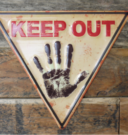 Metal Triangle Sign - Keep Out